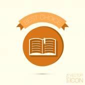 откройте книгу. образование знак — Cтоковый вектор