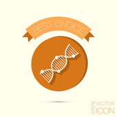 DNA helix. Medical Research  icon — Stock Vector