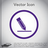 Pencil writing on paper icon — Wektor stockowy