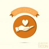 Hand holding   heart symbol — Stock Vector