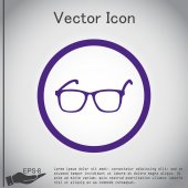 Glasses, vision icon — Stock Vector