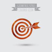 Target symbol. darts icon — Stock Vector