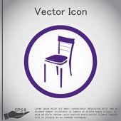 Stoel, interieur pictogram — Stockvector