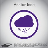 Weather icon, cloud with snow — Stock Vector