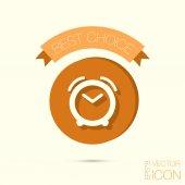 Alarm icon, clock sign — Stock Vector