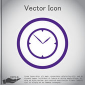 Klok, pictogram horloge. symbool tijd — Stockvector
