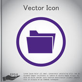 Folder for documents icon — Stock Vector