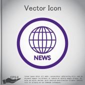 Icon globe planet — Stockvector