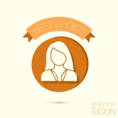 Female, girl, woman icon — Vettoriale Stock