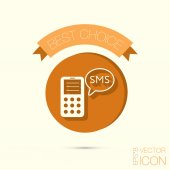Smartphone with sms icon — Stock Vector