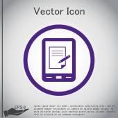 Pad Tablet s papíru. — Stock vektor