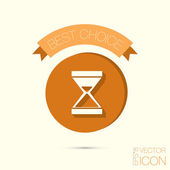 Hourglass waiting, icon expectations — Stock Vector