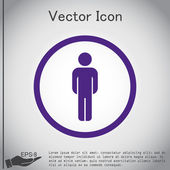 Silhouette of a man icon — Stock Vector