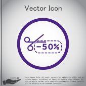 Discount, shopping icon — Stock Vector