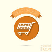 Online shopping icon — Stock Vector