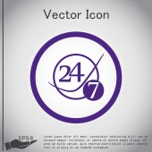 24 hours,  7 days icon — Stock Vector
