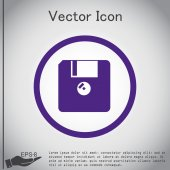 Floppy, diskette.  document icon — Stock Vector