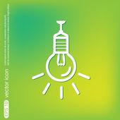 Lightbulb, ideas icon — Stockvektor