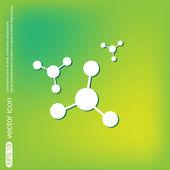 Atom, molecule icon — Stock Vector