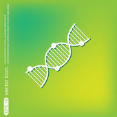 DNA helix. Medical Research character — Stock Vector