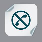 Forbidden to use phone symbol — Stock Vector