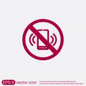 Forbidden to use phone — Stock Vector