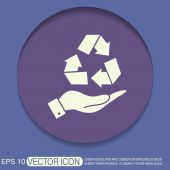 Hand holding recycle symbol — Stock Vector