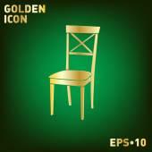 Icono de la silla símbolo muebles — Vector de stock