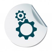 Cogwheel, icon setting and repair — Stock Vector