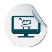 Sleduje se symbolem nákupního košíku — Stock vektor