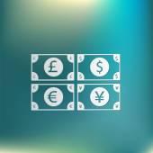 Segno di fattura di soldi — Vettoriale Stock