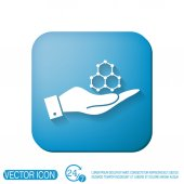 Hand holding a Chemical compound — Stock Vector