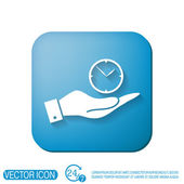 Hand holding a clock — Stock Vector