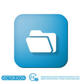 Папка для документов знак — Cтоковый вектор