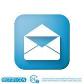 Почтовый конверт. символ электронной почты — Cтоковый вектор
