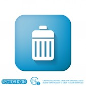Basket garbage, recycling — Stock Vector