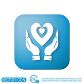 Hand holding a heart icon — Stock Vector