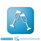 Champagne glass icon — Stock Vector