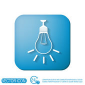 Lightbulb. character ideas — Stock Vector