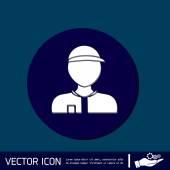 Man wearing a cap — Stock Vector