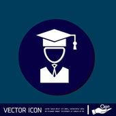 Graduate hat avatar — Stock Vector