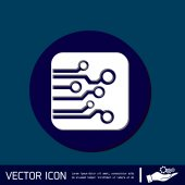 Circuit board sign icon — Stock Vector