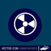 Nuclear danger icon — Stock Vector