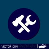 Hammer and wrench icon — Stock Vector