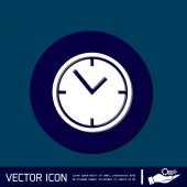Clock, Icon watch — Stock Vector
