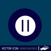 Icona di web del segno di pausa — Vettoriale Stock