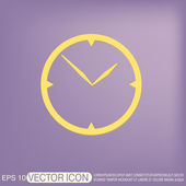 Clock, Icon watch. — Stock Vector