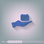 Hand holding  calendar — Stock Vector