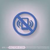 Forbidden to use phone. — Stock Vector