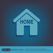 House icon.  sign — Stock Vector